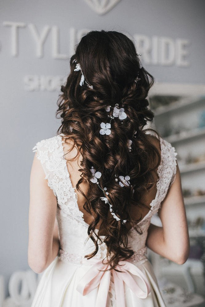 bridal hair vine etsy floral bridal hair accessories