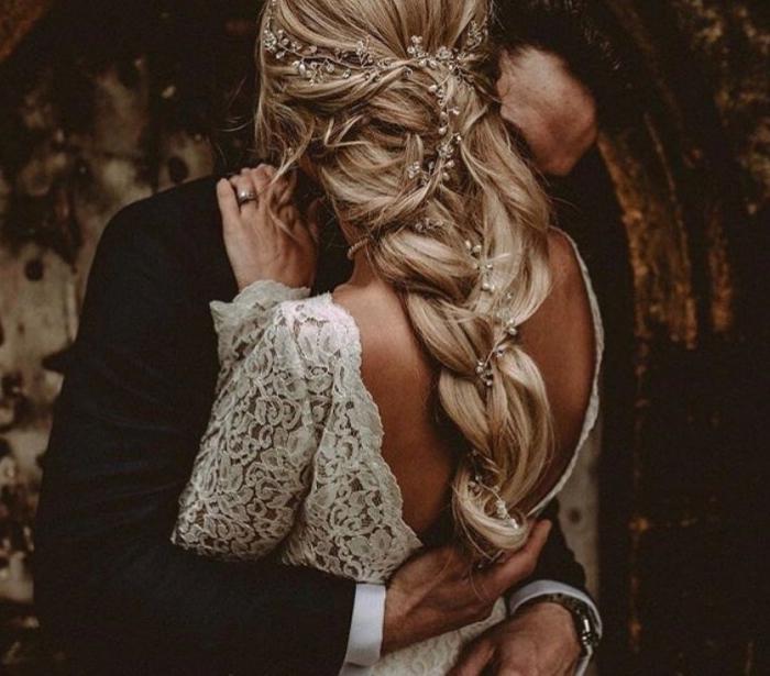 boho bridal hair vine etsy