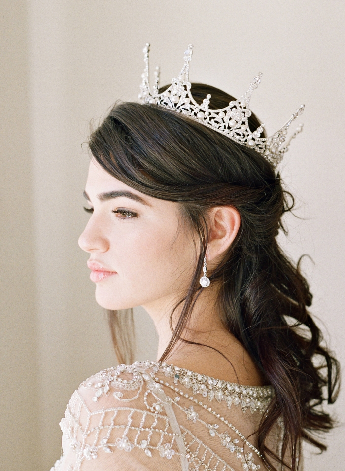 bridal headpiece tiara etsy