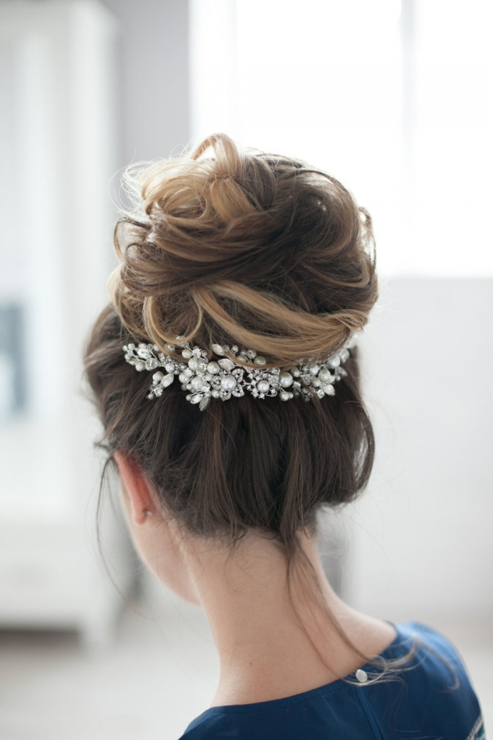 crystal bridal hairpiece