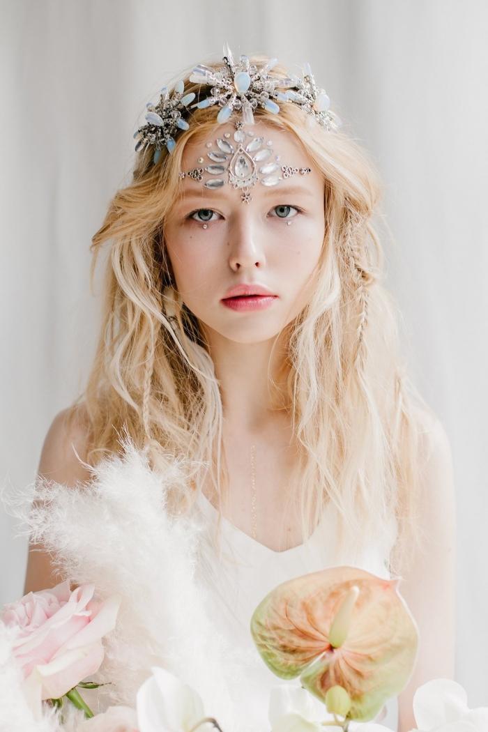 boho bridal crown headpiece etsy