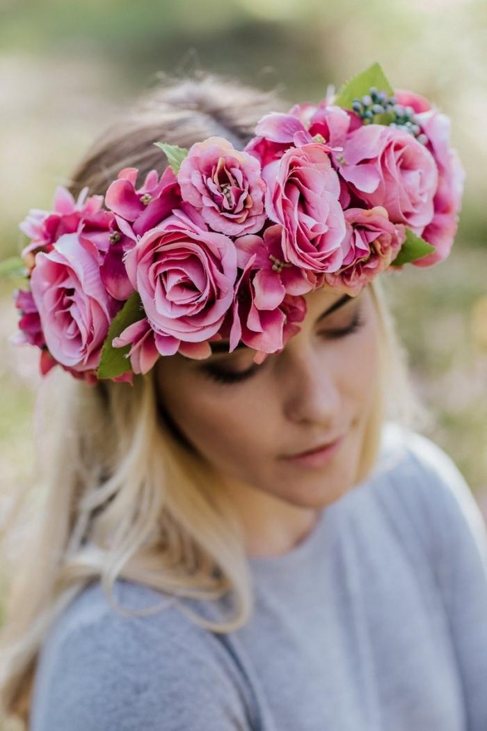 floral headpiece flower crown boho bridal etsy