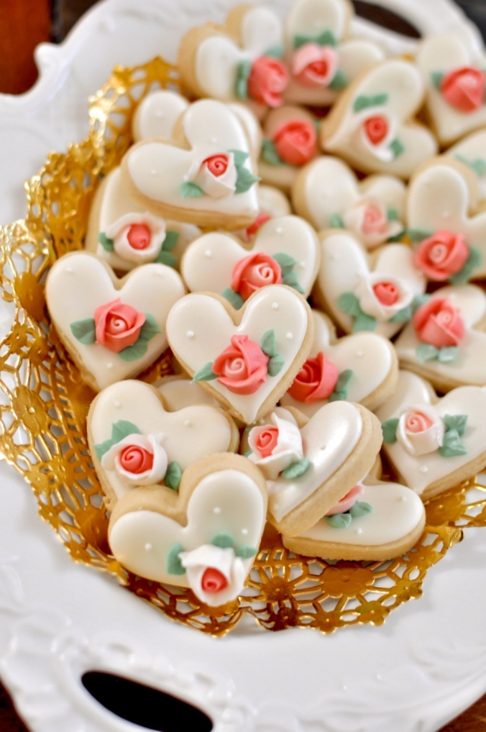 decorated cookies edible wedding favors bridal shower food