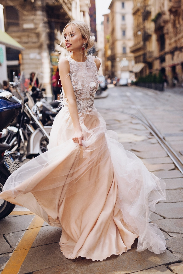 couture pink wedding dress etsy