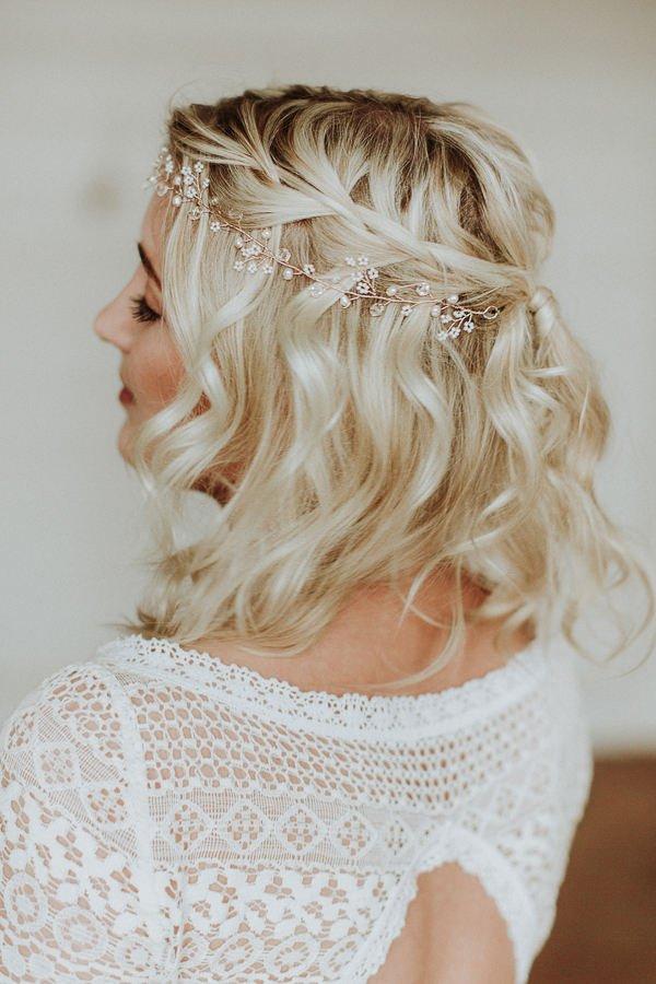 rose gold bridal hair accessory etsy