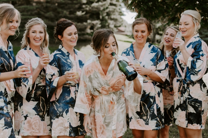etsy floral bridesmaid robes