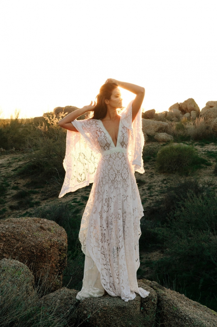 boho elopement dress etsy