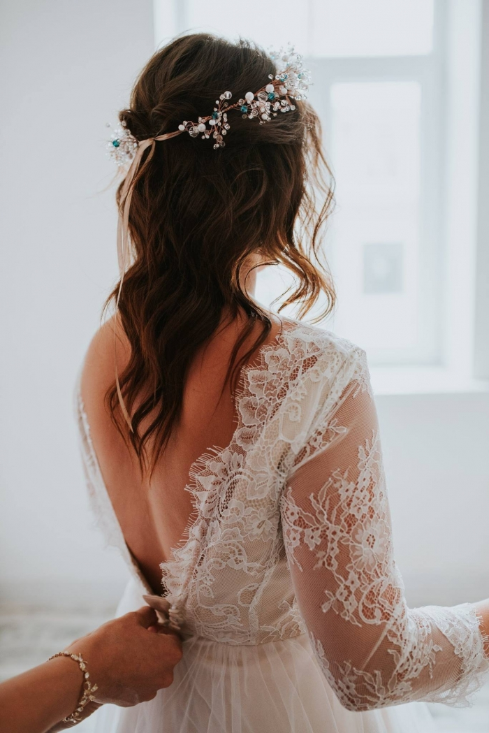 vintage lace wedding dress etsy