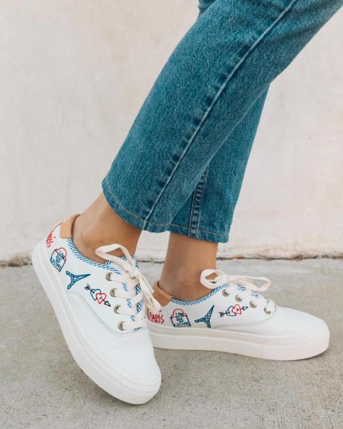 paris bridal sneakers