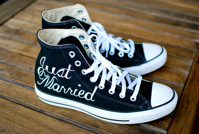 wedding sneakers converse etsy