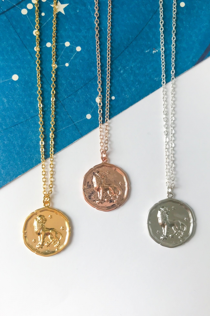 medallion necklace vintage summer style jewelry bridesmaid gift astrology etsy