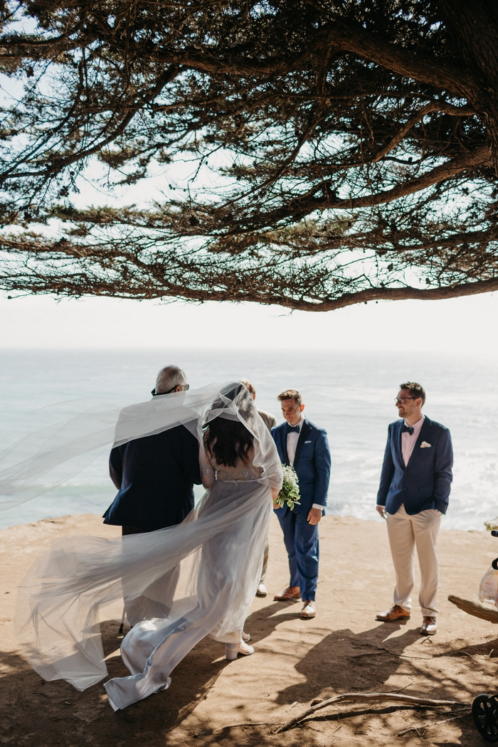 romantic coastal wedding