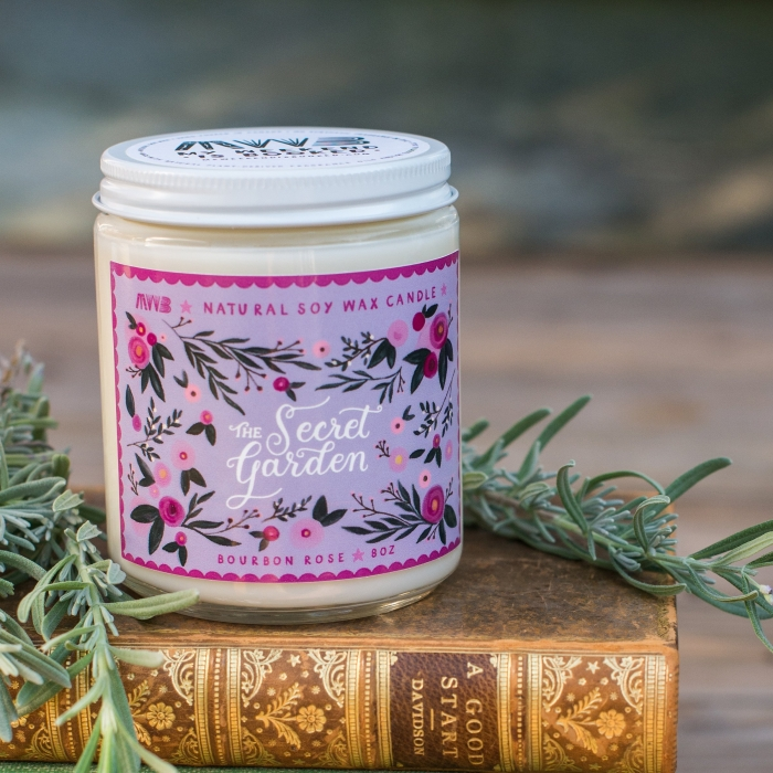 my weekend is booked secret garden natural soy candle bridesmaid gift