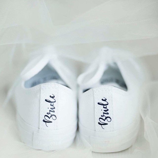 wedding reception shoes bridal sneakers etsy