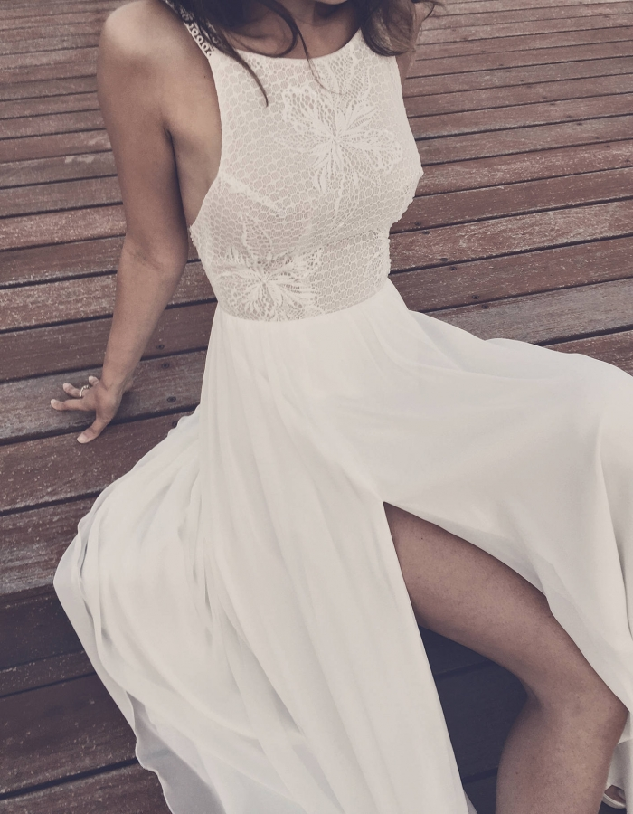 boho beach wedding dress etsy