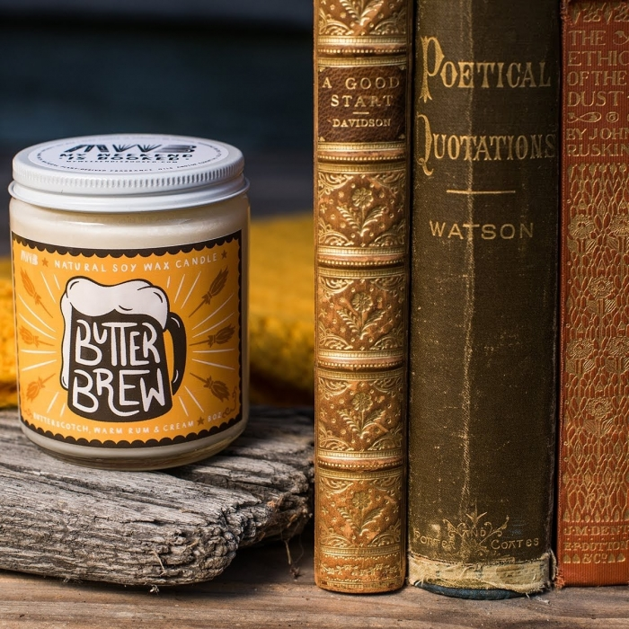 butterbeer harry potter candle book themed