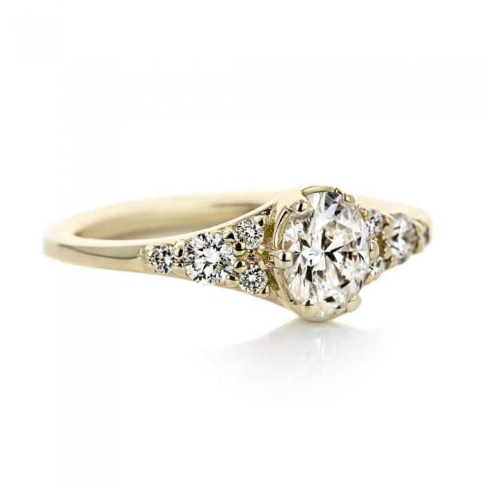 lab grown engagement ring