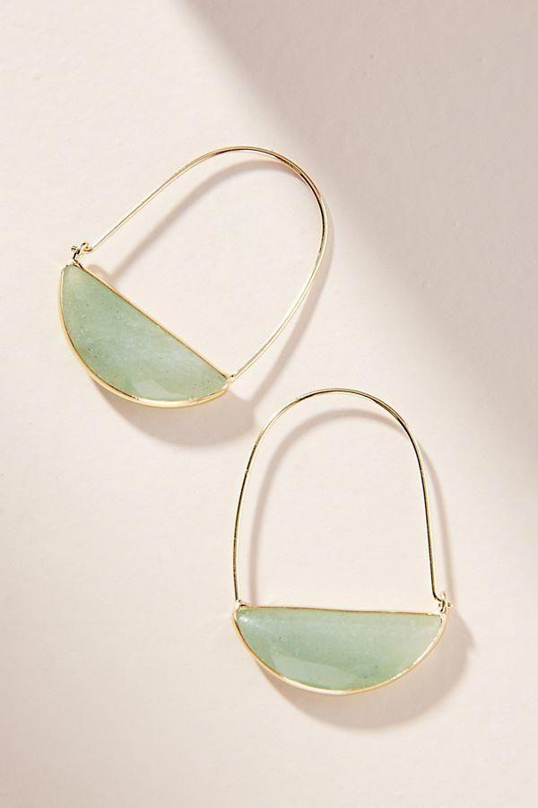 hoop earrings bridal