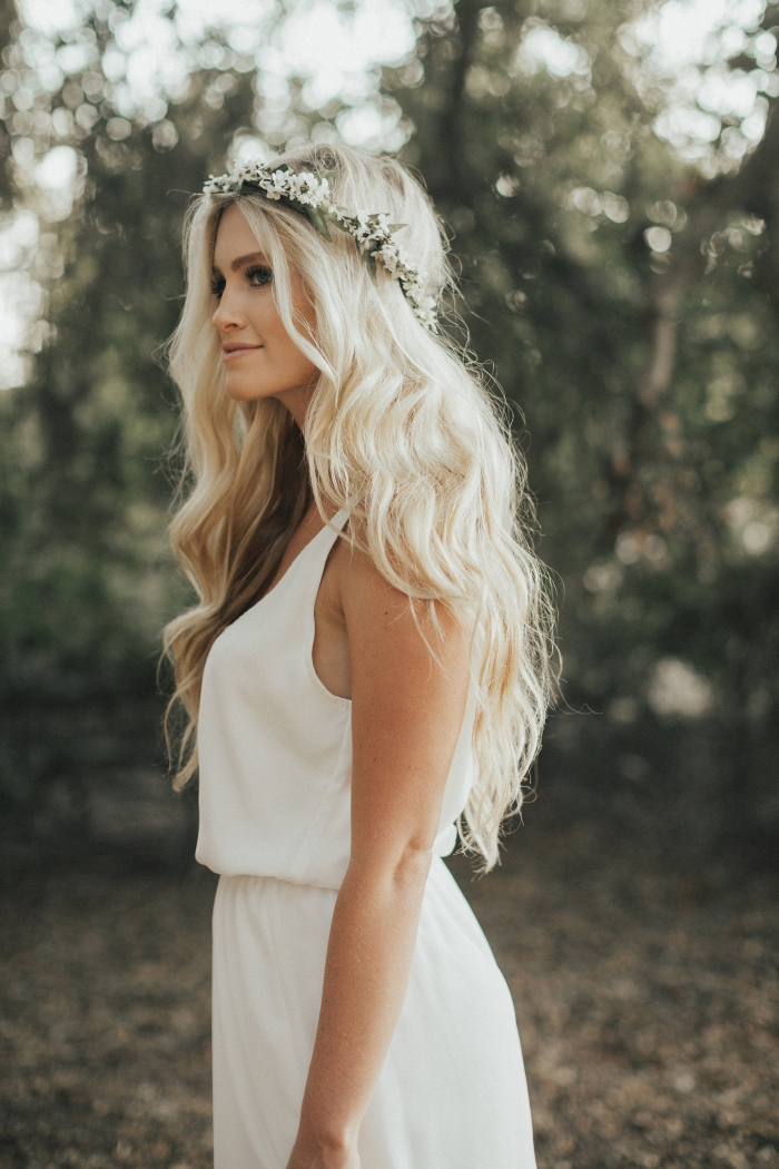bridal flower crown boho etsy