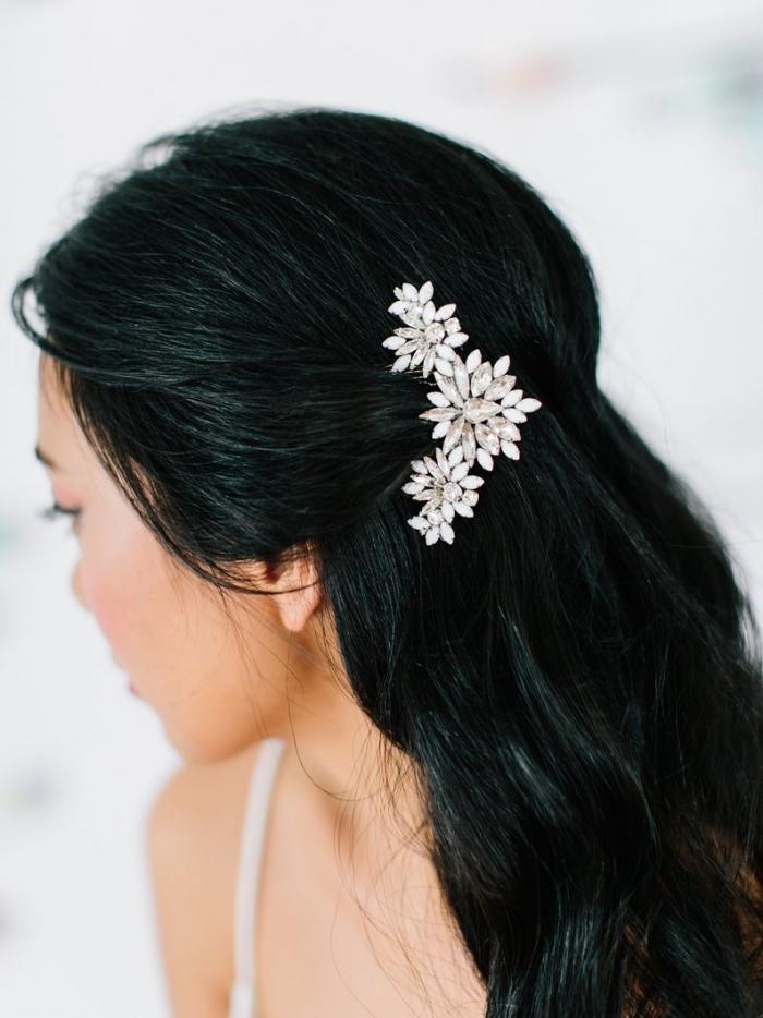 art deco bridal hairpiece etsy wedding