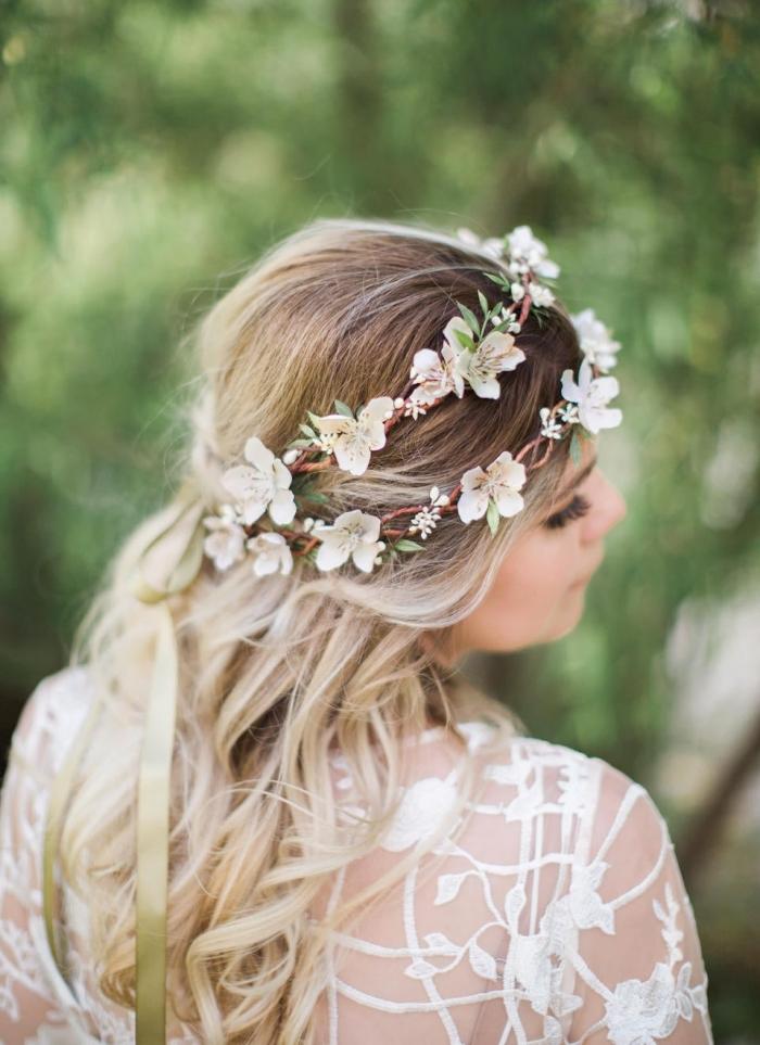 fake flower crown wedding