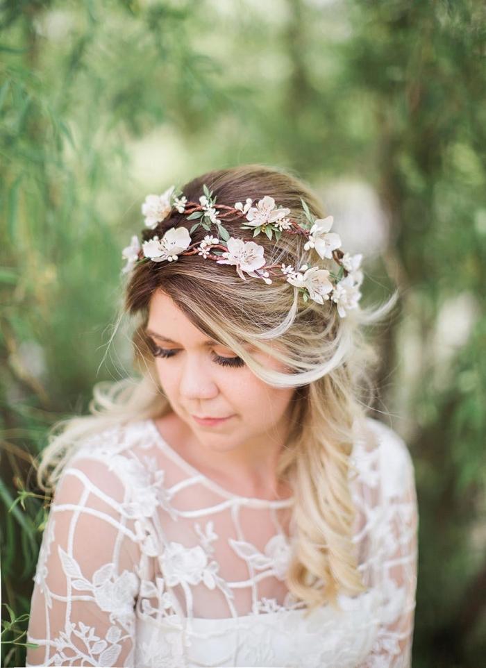 fake flower crown wedding etsy