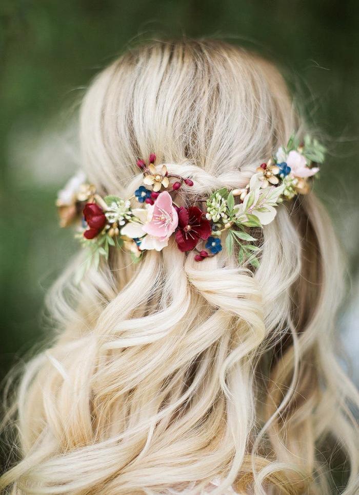 flower crown wedding etsy
