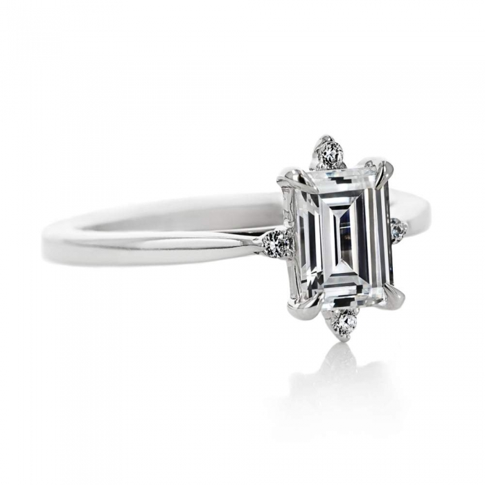 engagement ring lab grown diamond