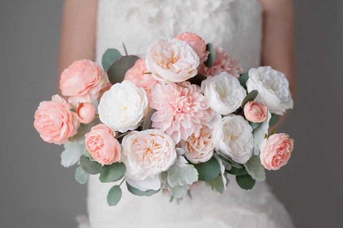 blush bridal bouquet etsy