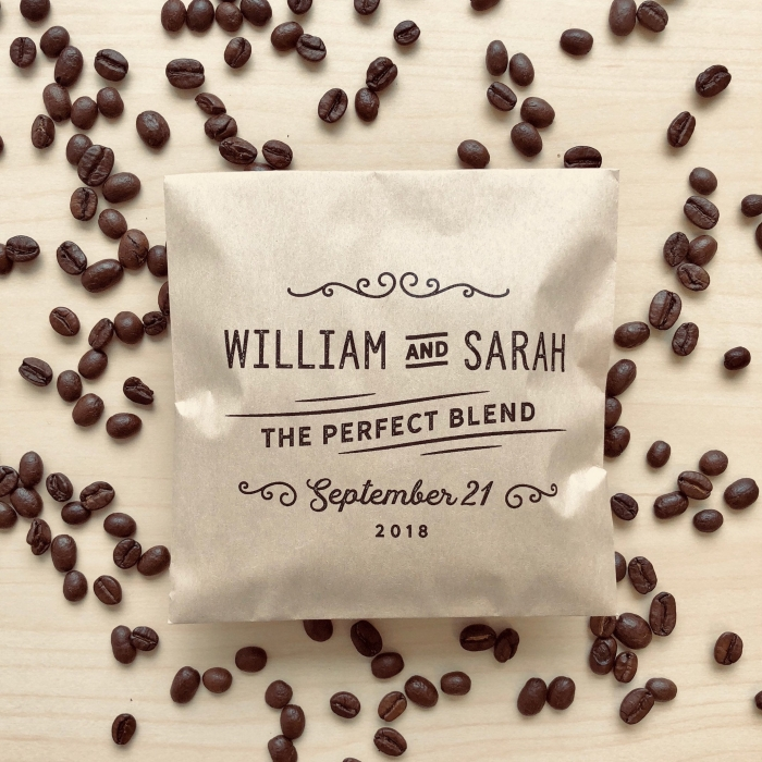 coffee favor bags etsy