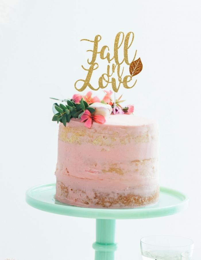 bridal shower cake topper