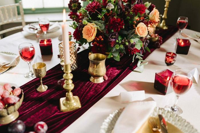 fall table setting wedding etsy