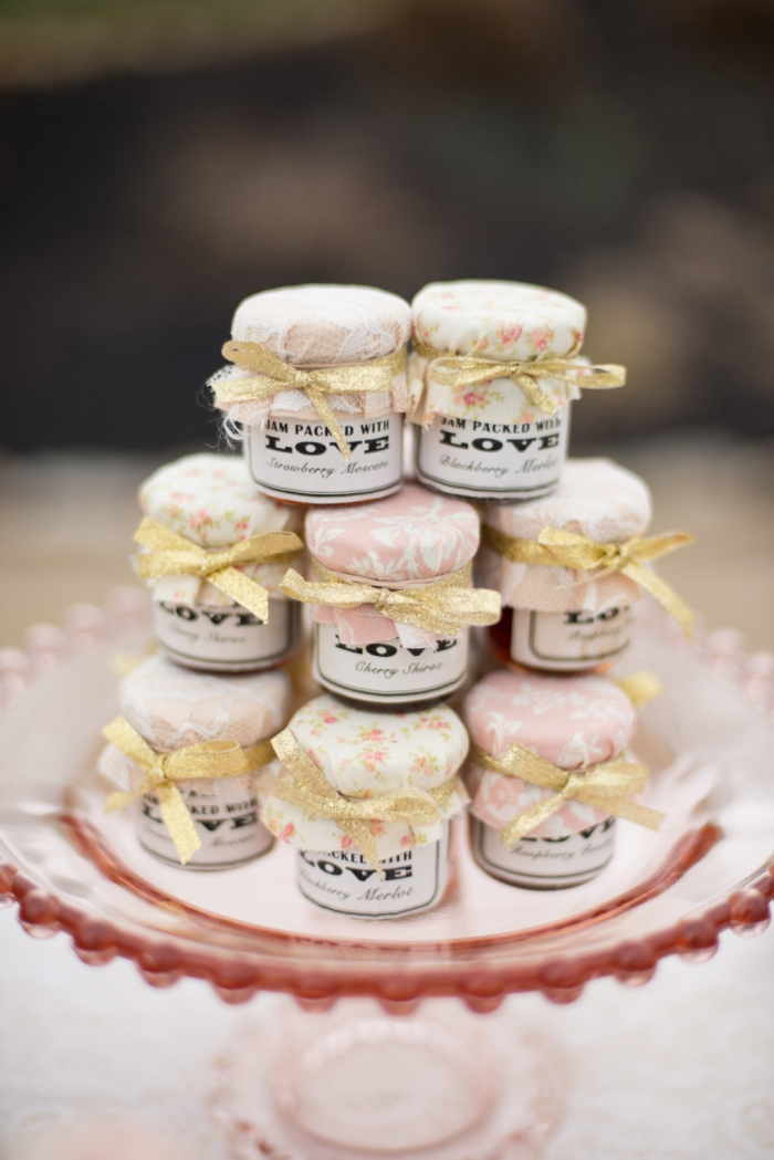 jam fall wedding favors