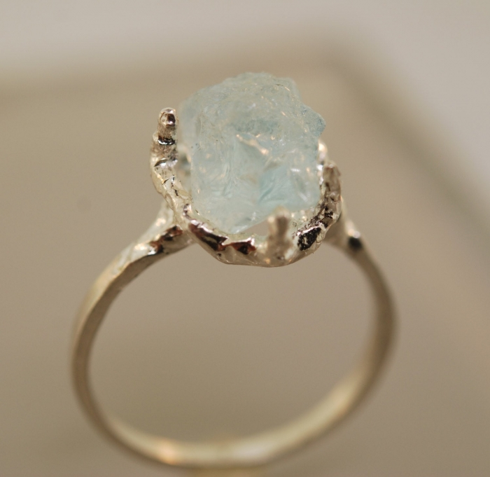 raw gemstone engagement ring under 100
