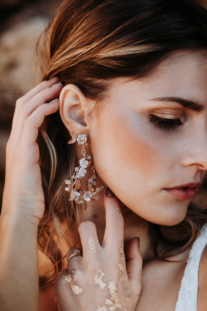 boho bridal earrings etsy