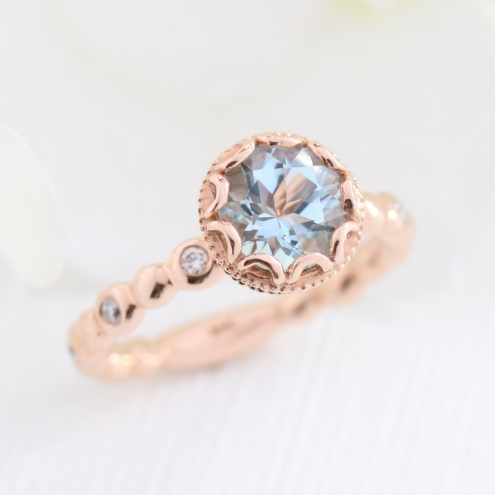 budget engagement ring etsy rose gold
