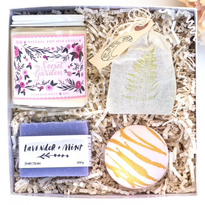 mother of the bride gift box spa