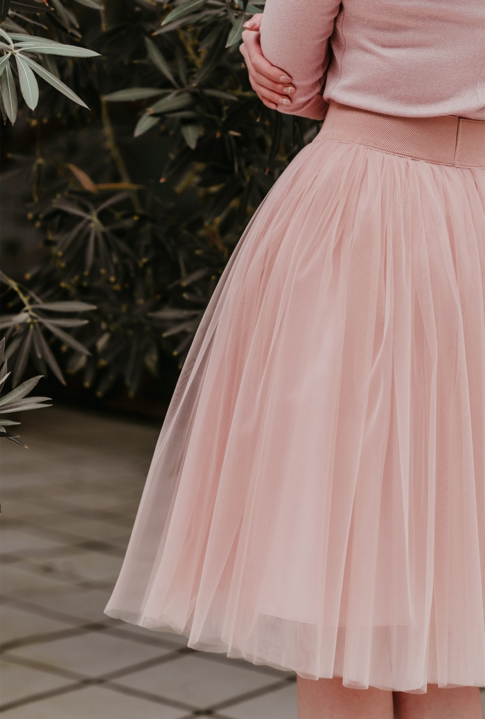 pink tulle bridesmaid skirt