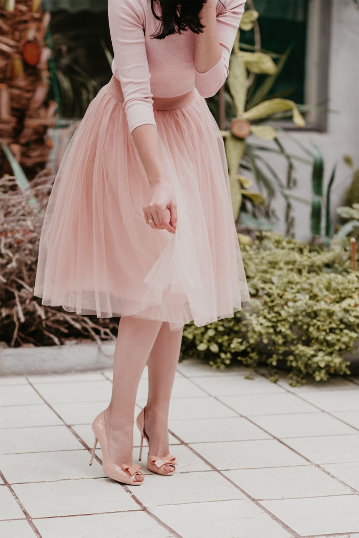 tulle bridesmaid skirt pink
