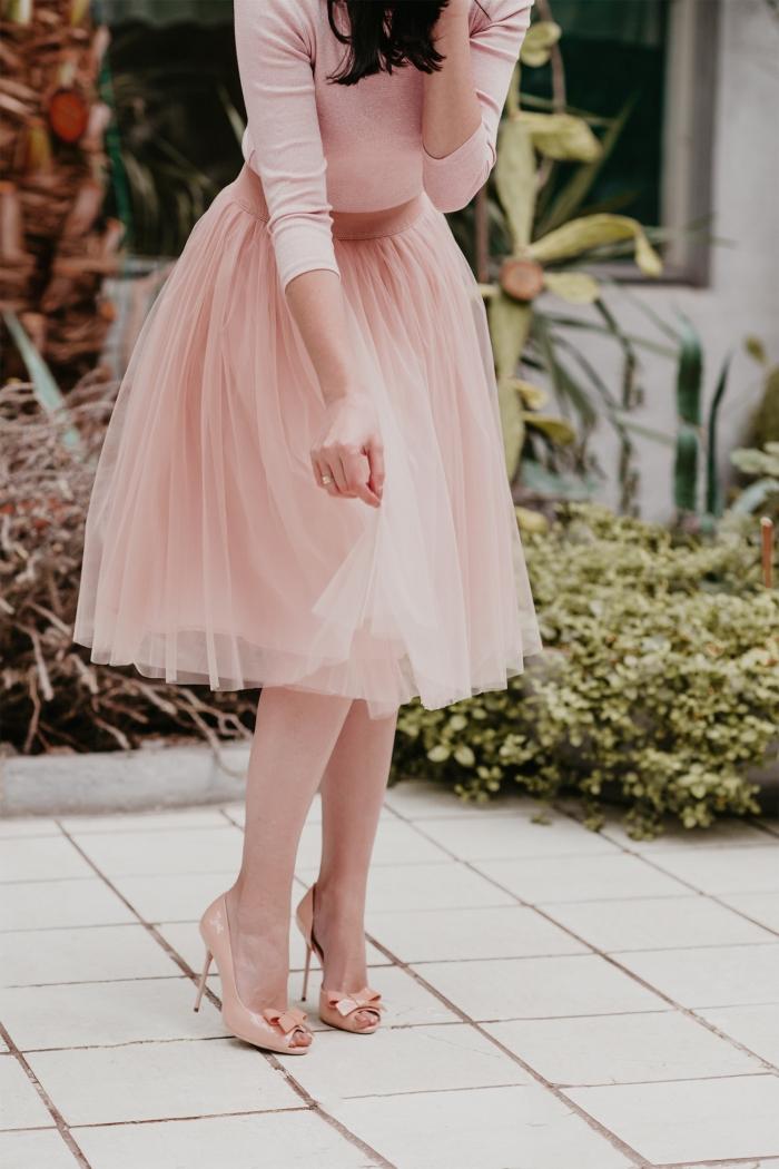 tulle bridesmaid skirt pink