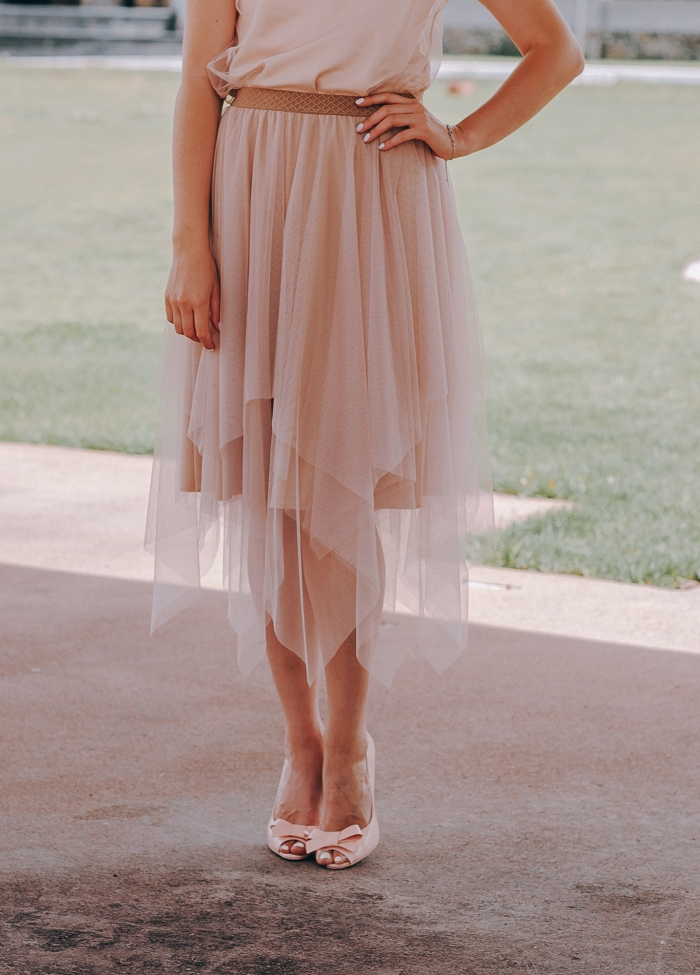 pink bridesmaid skirt tulle