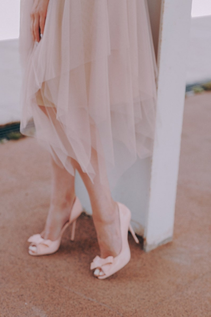 pink bridesmaid skirt tulle