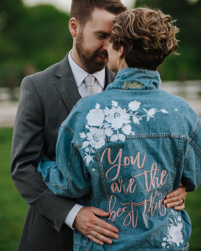 embroidered bridal jacket
