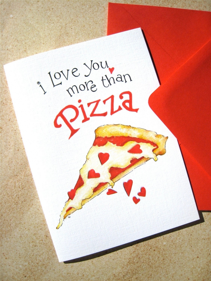 food valentines card