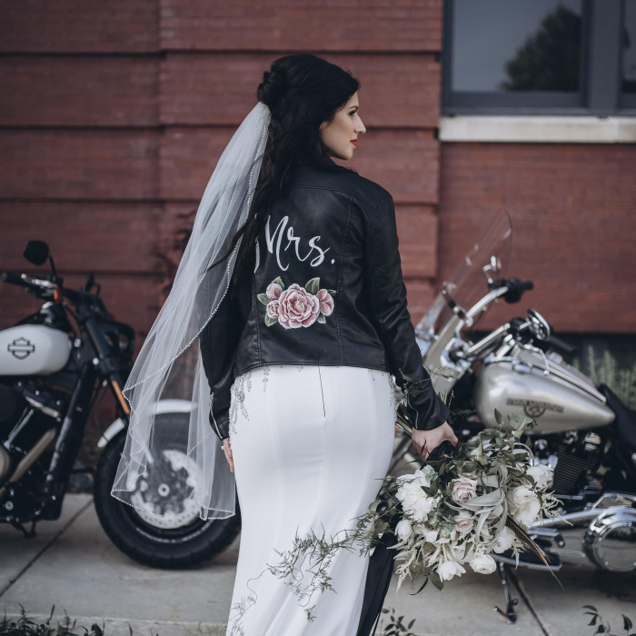 bridal jacket leather etsy