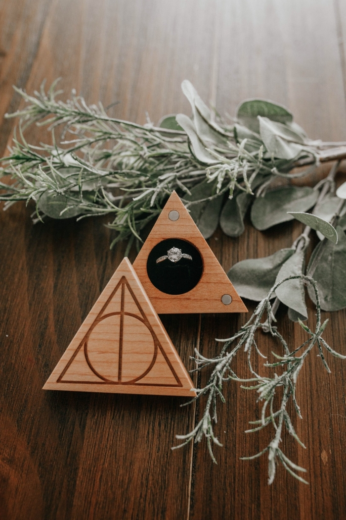 harry potter wedding ring box