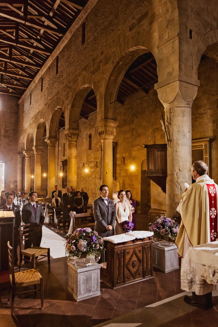 tuscany church wedding small