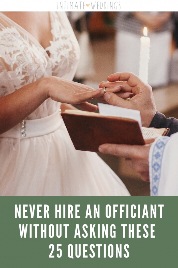questions to ask wedding officiant