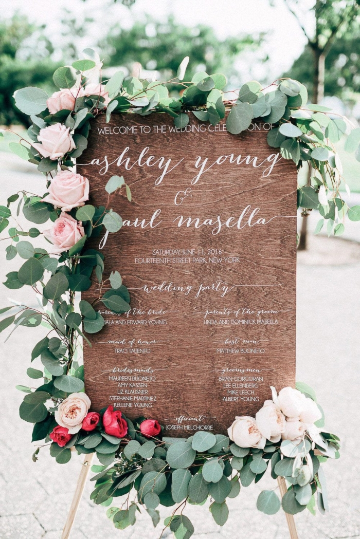 wooden wedding sign etsy wedding program ideas