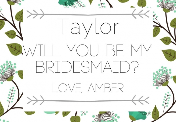 Will you be my bridesmaid free label
